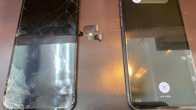 iPhoneX画面交換修理